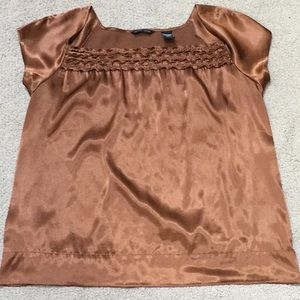 Silky Copper short sleeve top Juliet neckl…